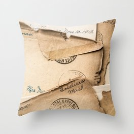 Soldier's Mail Throw Pillow