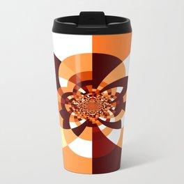 Orange Brown Cream Kaleidoscope Travel Mug