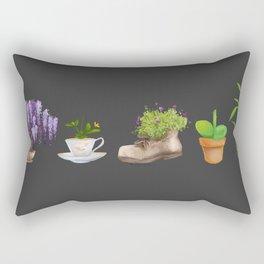 Potted Plants Rectangular Pillow