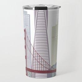 San Francisco skyline poster Travel Mug