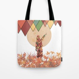 Flower girl and the moon Tote Bag