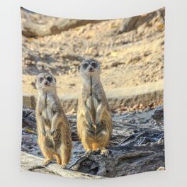 A couple of meerkats Wall Tapestry