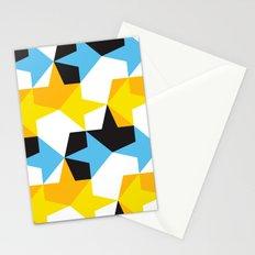 Blue, Yellow, Orange & Black Geometric Pattern Stationery Cards