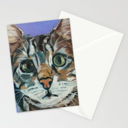 Green Eyed Cat Portrait Stationery Cards