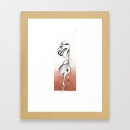 A genital accident  Framed Art Print