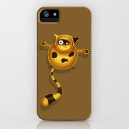Flying Fat Cat | Brown iPhone Case