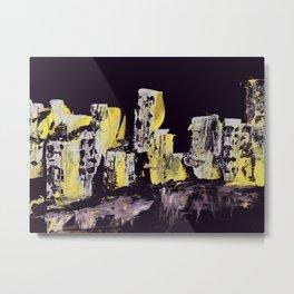 Yellow Purple Cityscape Metal Print