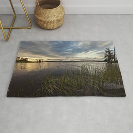 sunset on south bay Rug