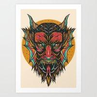 demon Art Prints featuring Demon by MIRKOW GASTOW