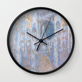 "Claude Monet ""Rouen Cathedral, West Façade"" Wall Clock"