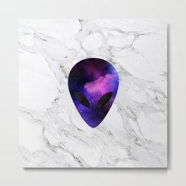 Galaxy Alien on Marble - tumblr trendy Metal Print