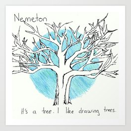 The Nemeton - Teen Wolf Art Print