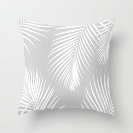 Gray Tropical Pattern Throw Pillow