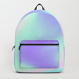 Cute holographic pastel coloured print Backpack