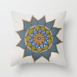 Mandala by Motilal Throw Pillow