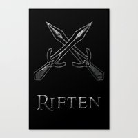 skyrim Canvas Prints featuring Riften by Pixel Design