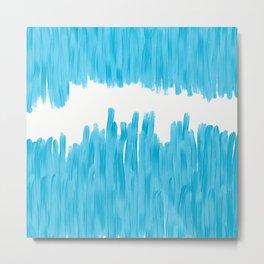 Sea of Blue Painted Metal Print