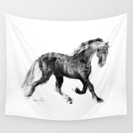 Horse (Friesian Colt) Wall Tapestry
