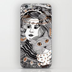 Capable Cat iPhone & iPod Skin