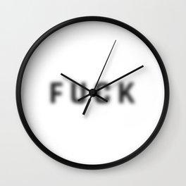 Blur Fuck Wall Clock
