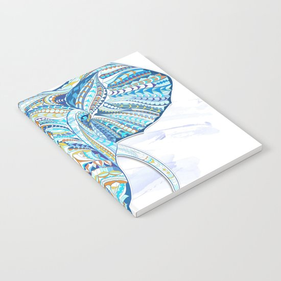 Blue Ethnic Elephant Notebook