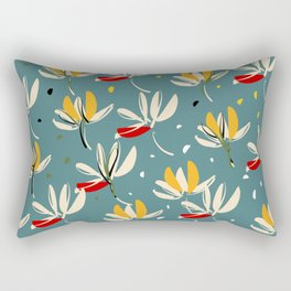 Vanilla flowers on ocean background Rectangular Pillow