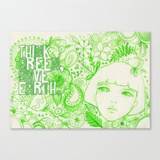 Think Green, Save Earth Canvas Print