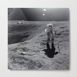 Apollo 16 - Plum Crater Metal Print