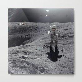 Apollo 16 - Plum Crater Metal Print