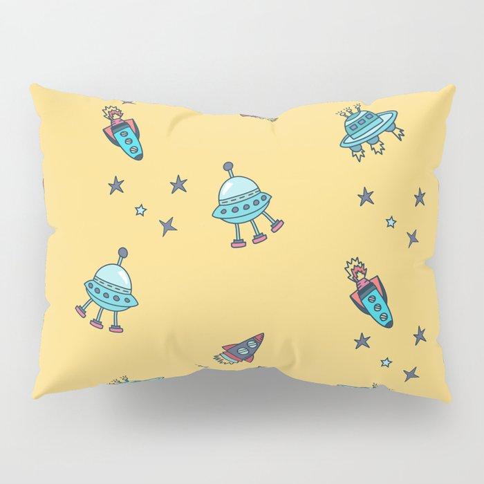 Boys Galaxy Rocket Space Pillow Sham