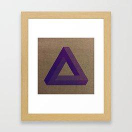 Purple Penrose Framed Art Print