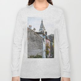 French street in Montmartre, Paris Long Sleeve T-shirt