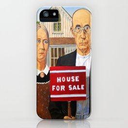 New American Ghotic. Crisis what crisis? iPhone Case
