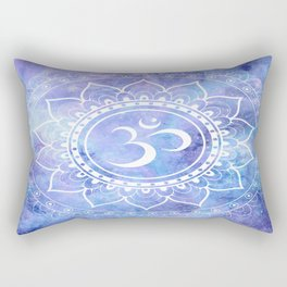 Om Mandala Lavender Periwinkle Blue Galaxy Space Rectangular Pillow