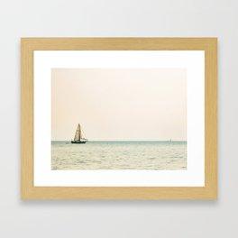 Sailboat and Boon Framed Art Print