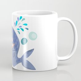 Cute Blue Whale  Coffee Mug