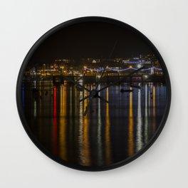 Prince of Wales Pier at Night Wall Clock