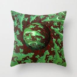 Crocodile Invasion 1 Throw Pillow