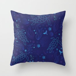 Sea Turtle Haven Throw Pillow