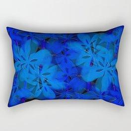 Floral Fun in Blue Rectangular Pillow