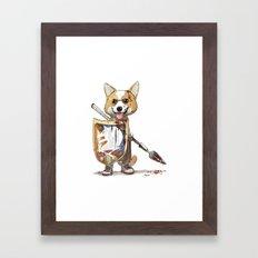 Corgi Barbare Framed Art Print