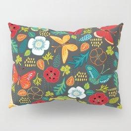 The Butterfly Garden - Charcoal Pillow Sham