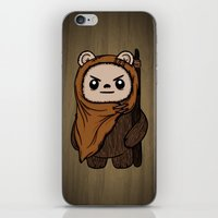 ewok iPhone & iPod Skins featuring Cartoon Ewok by Team Rapscallion