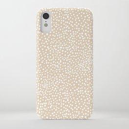 Little wild cheetah spots animal print neutral home trend warm honey yellow beige iPhone Case