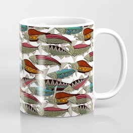 Alaskan salmon white Coffee Mug
