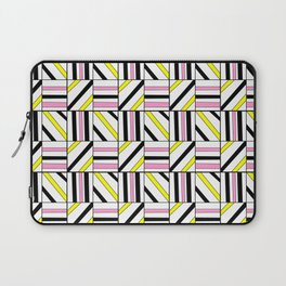 symetric tartan and gingham 2 -vichy, gingham,strip,square,geometric, sober,tartan Laptop Sleeve