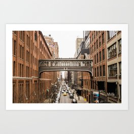 High lane Park New York | USA Manhattan Bridge Photo Print | Brick - travel - photography - Art print Art Print