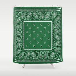 Classic Green Bandana Shower Curtain