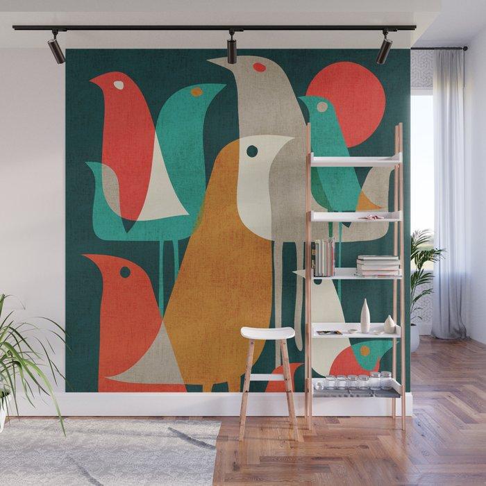 Flock of Birds Wall Mural