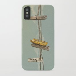 Vintage Clothespin iPhone Case